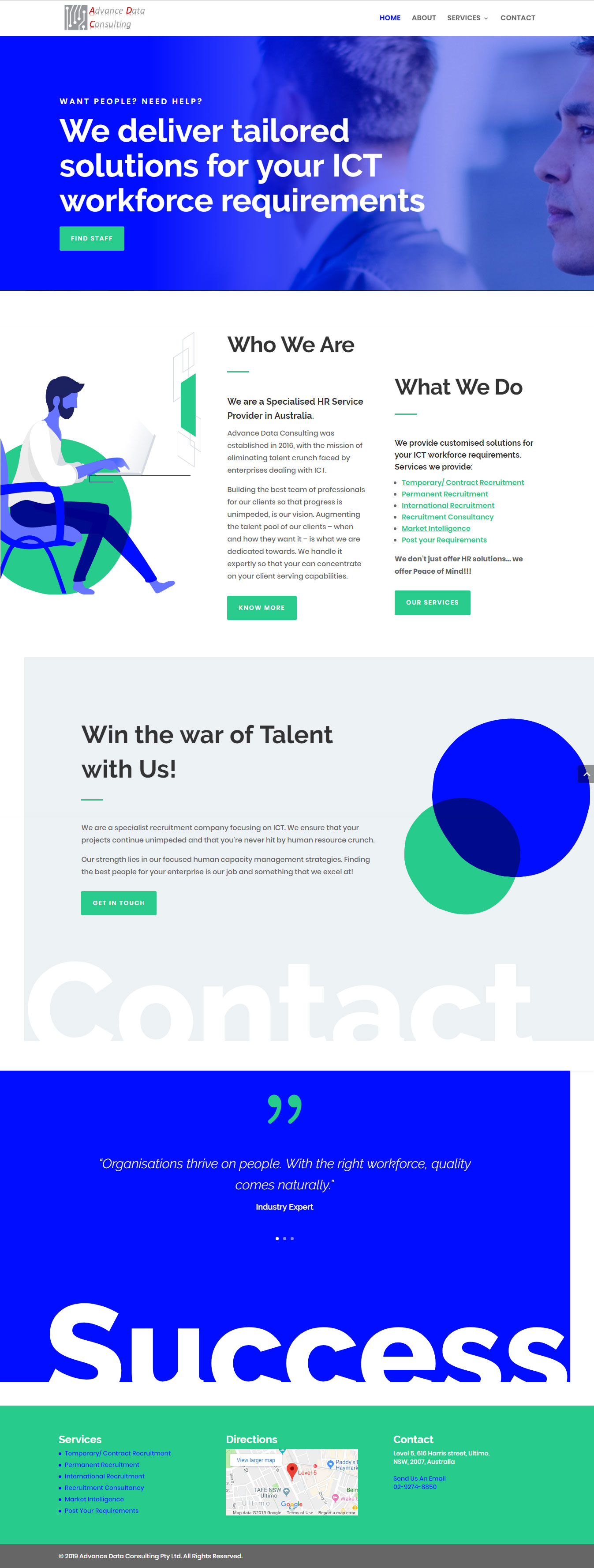 Website Design for an Australian HR Service Provider