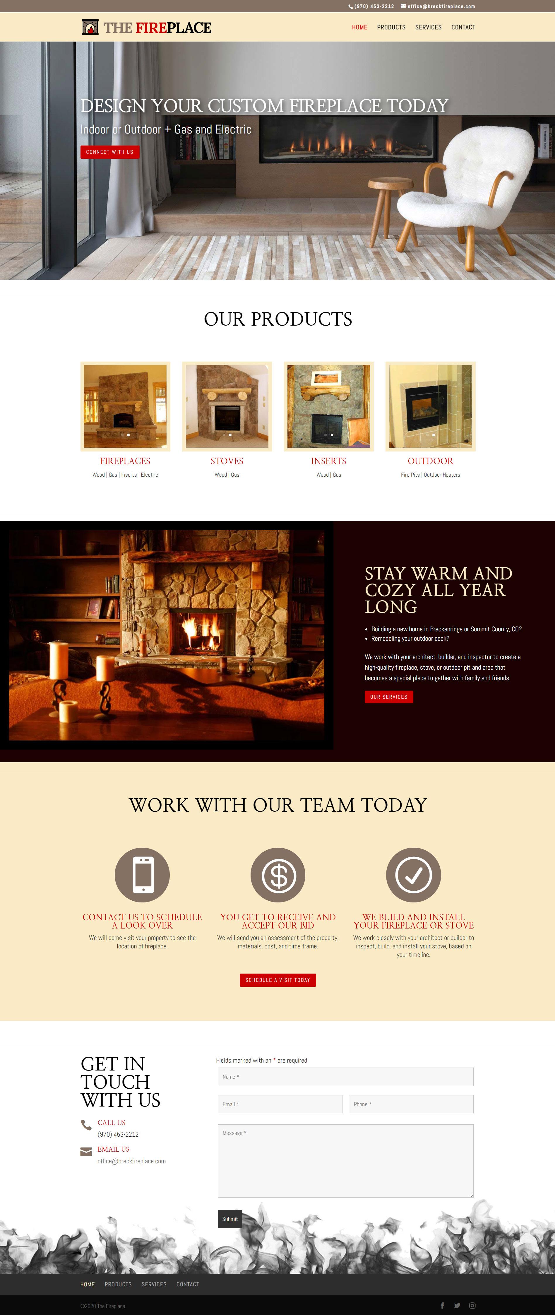 Breckenridge Custom Fireplace Builder and Installer