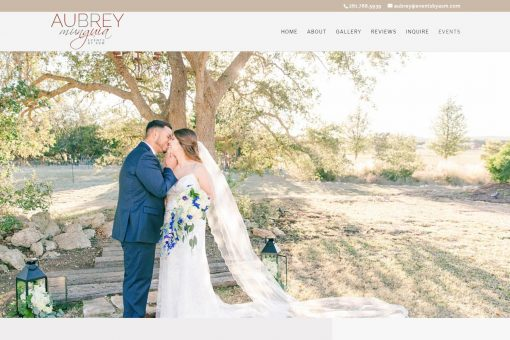 Website Design for an Events and Wedding Planner
