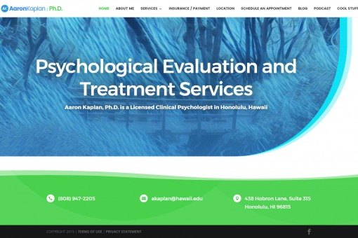 Website for a Clinical Psychologist