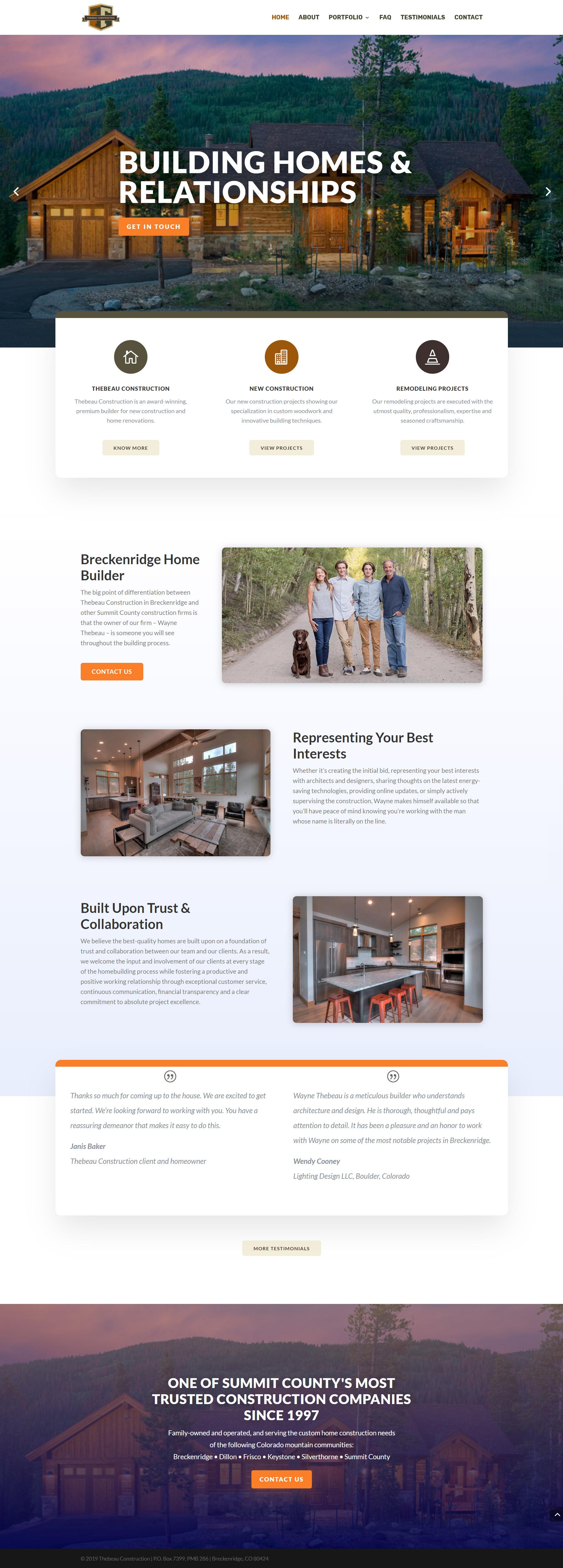 Breckenridge Custom Home Builder