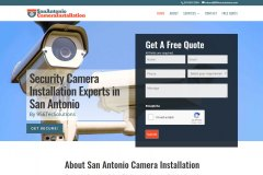 Website for Security Camera Installation Company